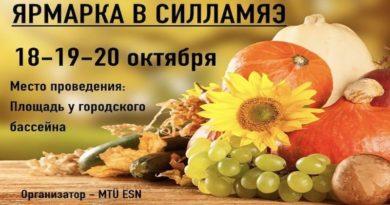 Ярмарка в Силламяэ 18-19-20 октября