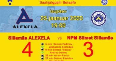 SILLAMAE ALEXELA ПОБЕЖДАЕТ В ДЕРБИ НАД КОМАНДОЙ SILLAMÄE FC NPM SILMET