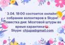 Онлайн-собрание волонтеров ESN в Skype.