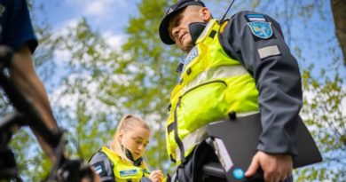 Полиция предупреждает: будьте бдительнее при езде на велосипеде!
