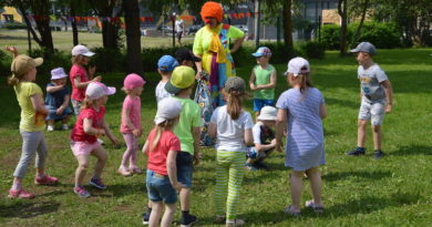 Спортивные развлечения в детском саду Jaaniussike в г. Силламяэ