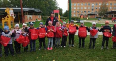 Тренера Sillamäe JK DINA провели детский спортивный праздник в детском саду  Rukkilill