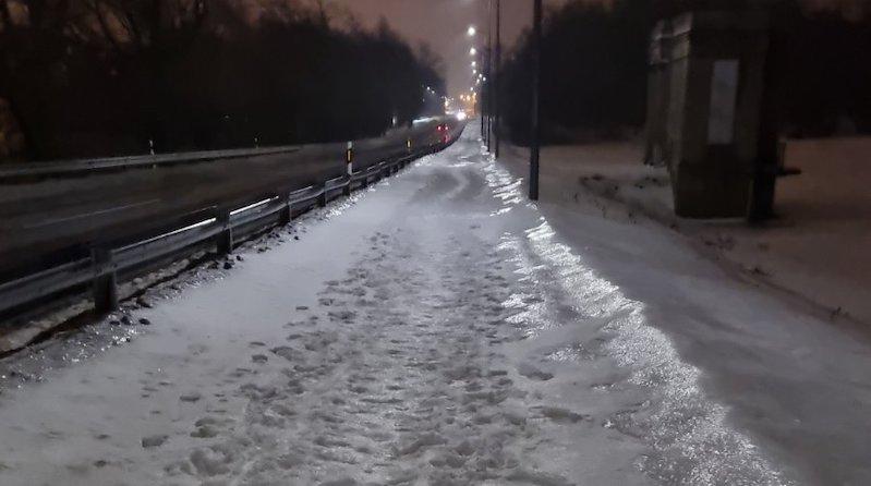 Праздник пришел, в Силламяэ перестали чистить дороги