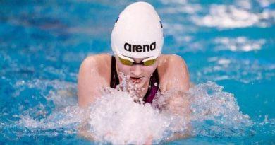 Энели Ефимова установила рекорды Эстонии на дистанциях 50, 100 и 200 м брассом