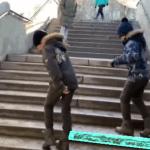 Крутой шаффл на лестнице от Ивана и Даниэля🔥🔥🔥