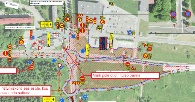 Схема движения по шоссе Таллинн-Нарва с 26.10.21